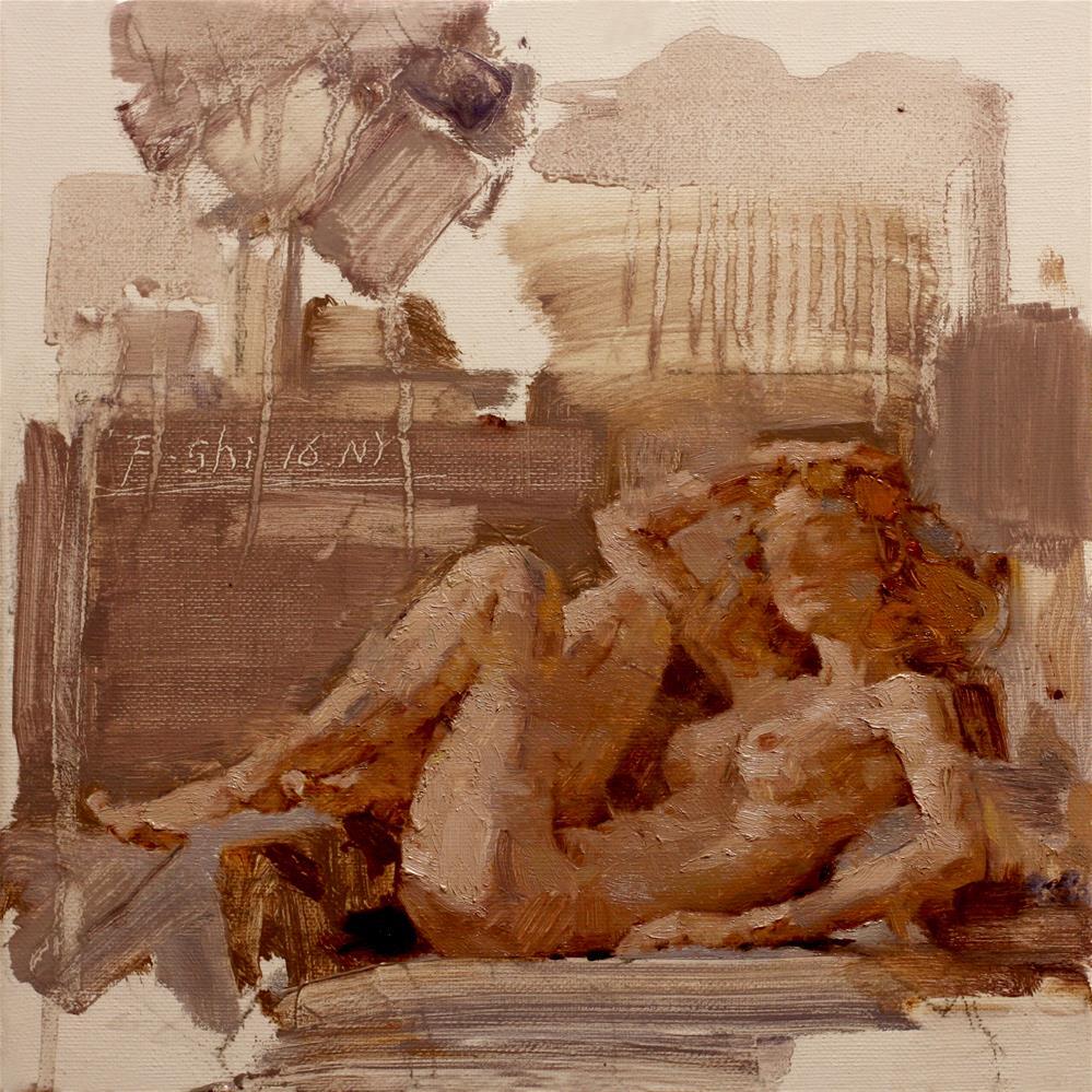 """Human body oil painting(8)"" original fine art by fengshi jin"