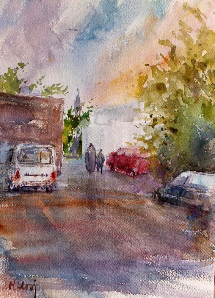 """Al Ain, after rain"" original fine art by Midori Yoshino"
