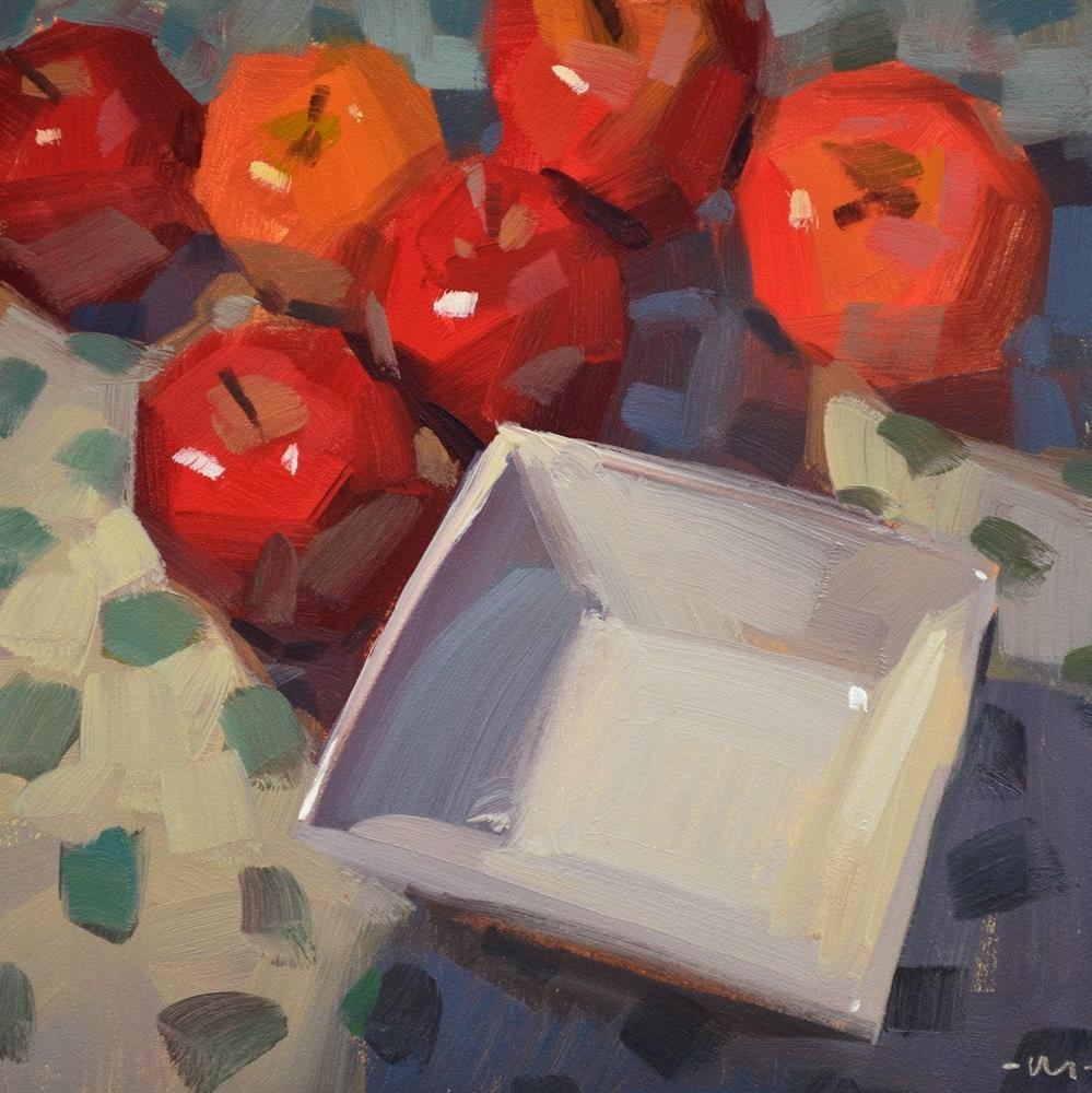"""Coveting the Square Bowl"" original fine art by Carol Marine"