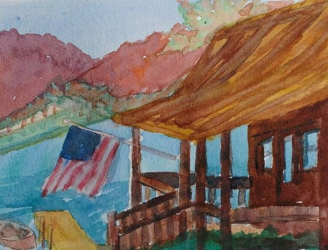 """Lake Time, Standard Time"" original fine art by Maria Peagler"
