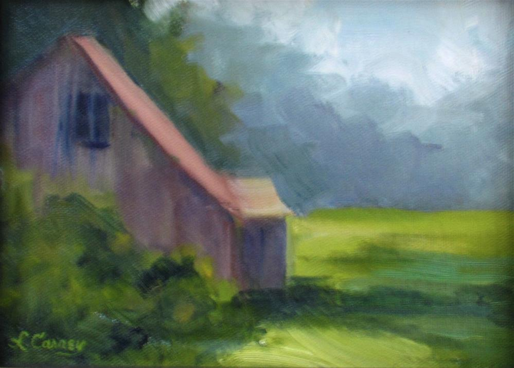 """Morning Mist"" original fine art by Linda Carney"