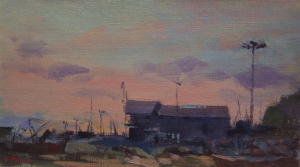 """Sunset Hastings"" original fine art by John Shave"