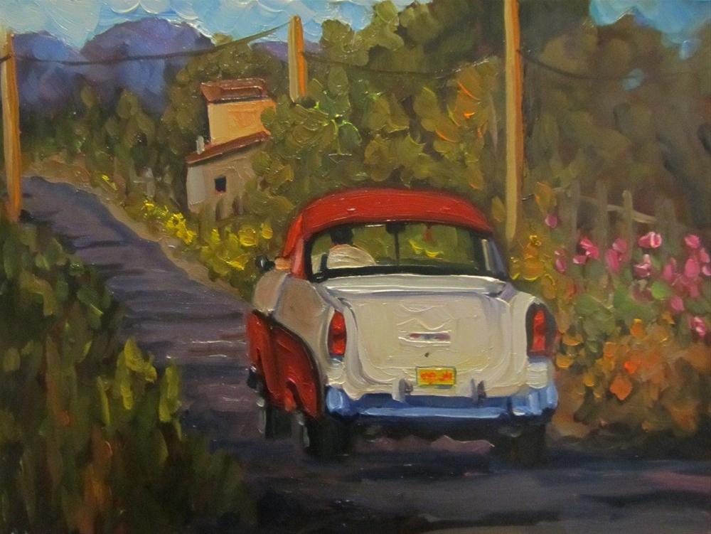 """JALOPY Taos cruiser"" original fine art by Dee Sanchez"