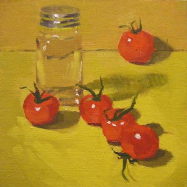 """WAITING FOR PEPPER"" original fine art by Helen Cooper"