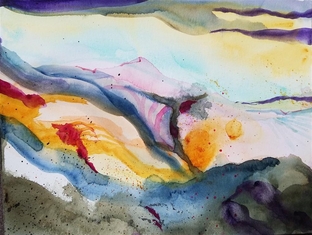 """""""Rocks"""" original fine art by Jean Krueger"""