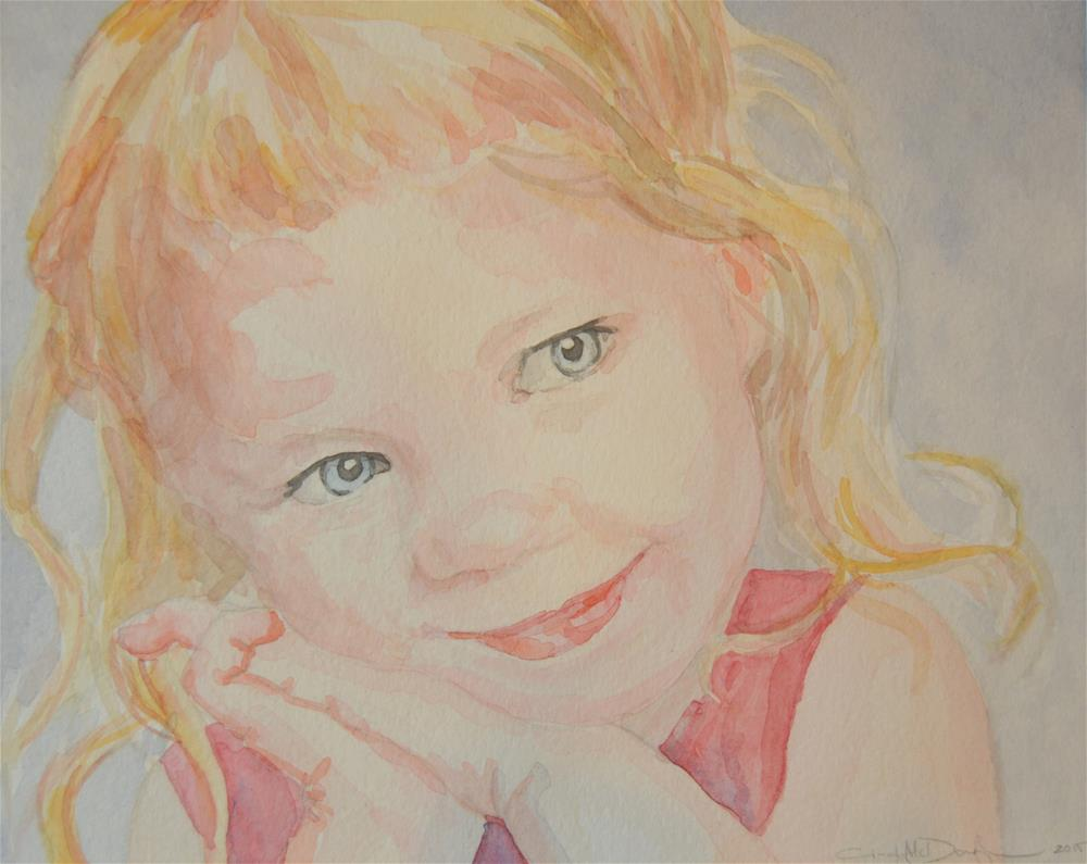 """Jenna"" original fine art by Cindy McDonough"