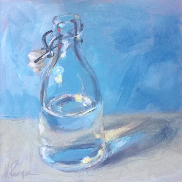 """Half Full"" original fine art by Mary Pargas"