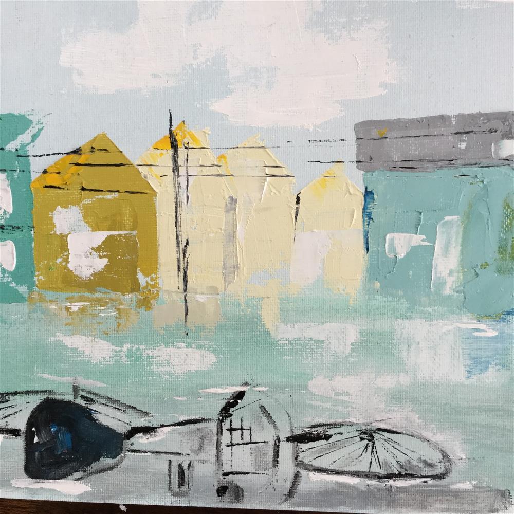 """Napping bike"" original fine art by pamela kish"