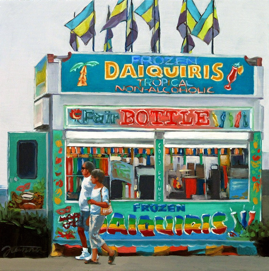 """""""Tropical Passion--Series Painting of Fair Food Booth"""" original fine art by Joanna Bingham"""