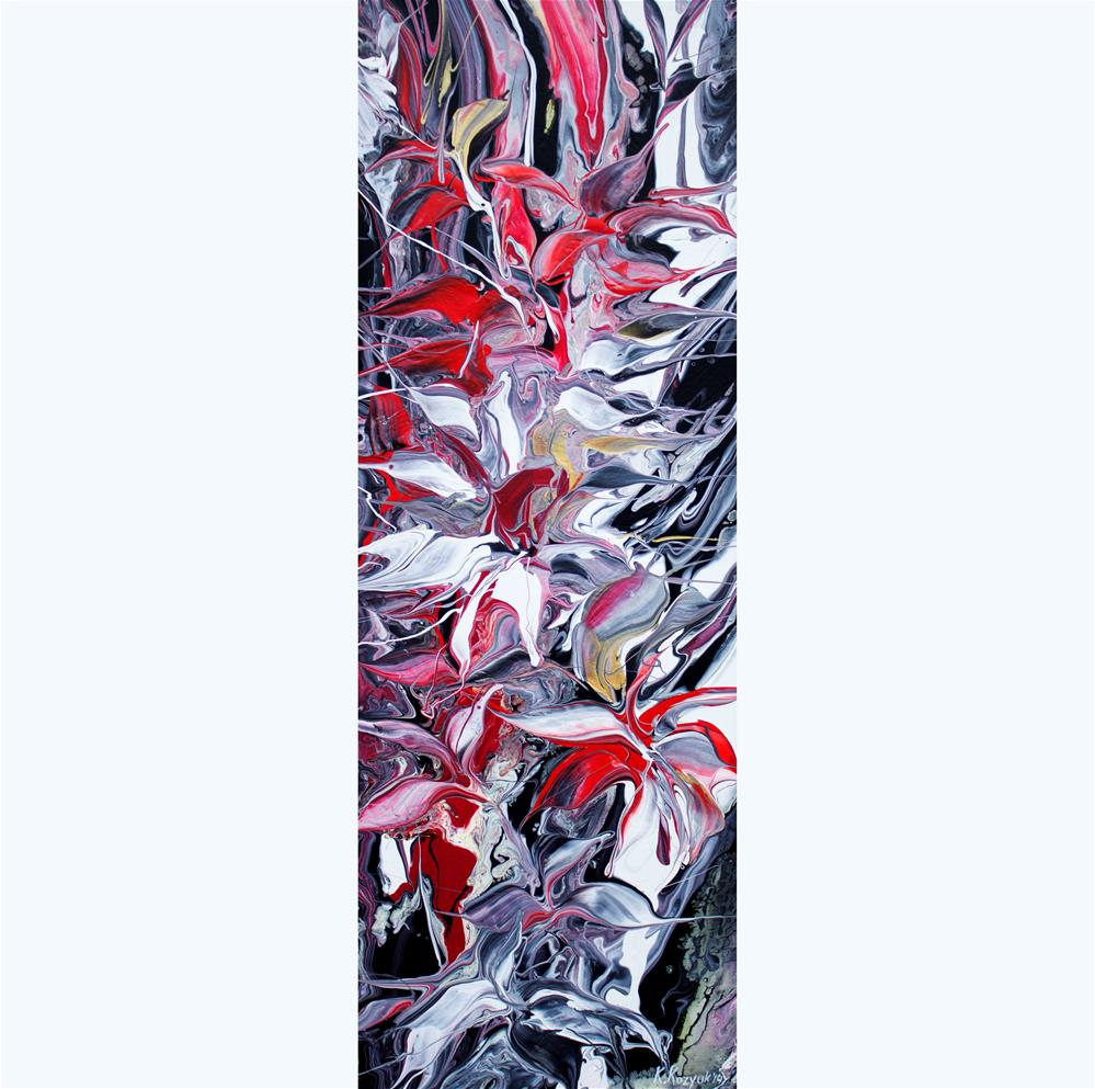 """Flowers Reflection II"" original fine art by Khrystyna Kozyuk"