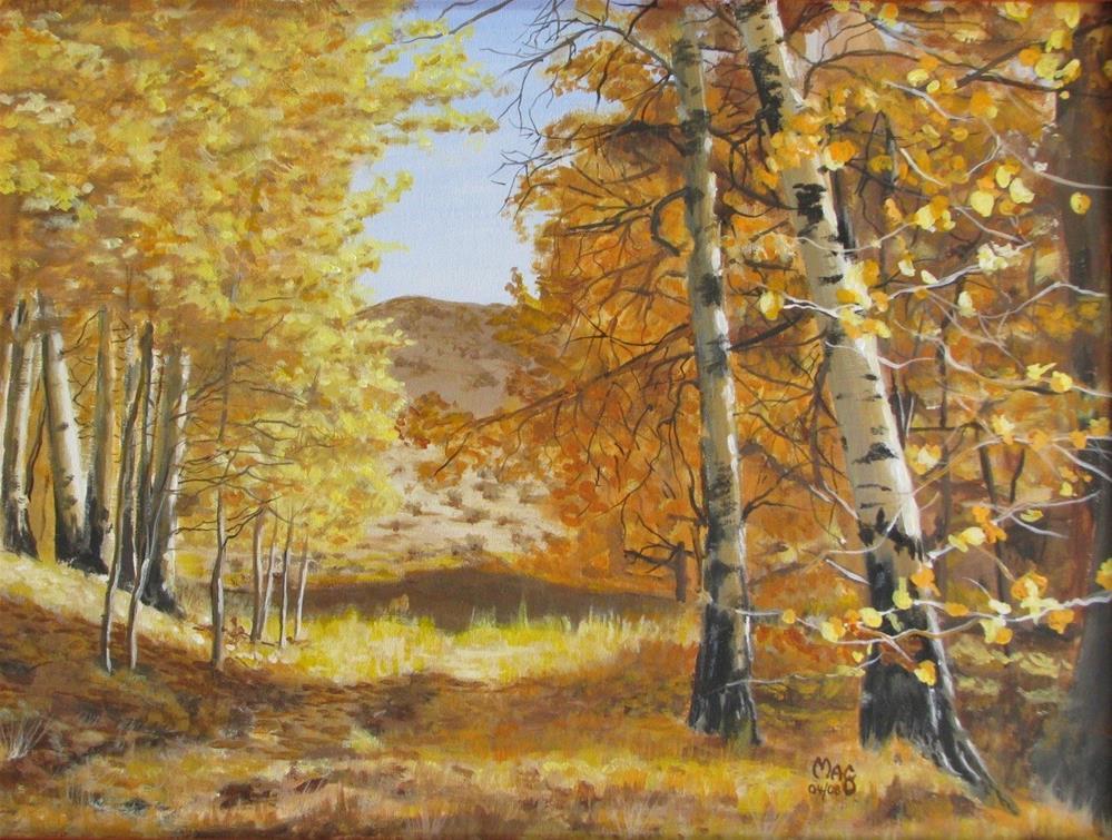 """Autumn on Conway"" original fine art by John F McGowan"