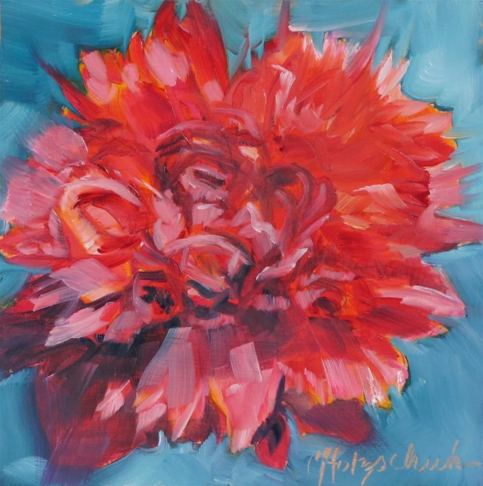 """Pink Peony"" original fine art by Christine Holzschuh"
