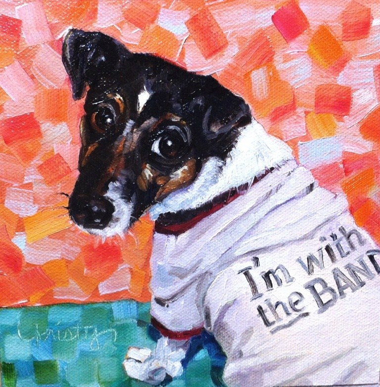 """I'M WITH THE BAND"" original fine art by Kristy Tracy"