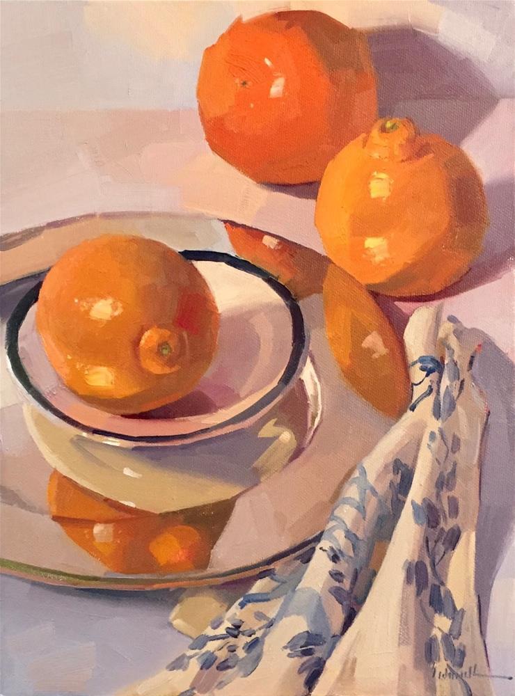 """Three Tangelos"" original fine art by Sarah Sedwick"
