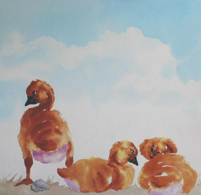 """New Chicks"" original fine art by C J Roughton"