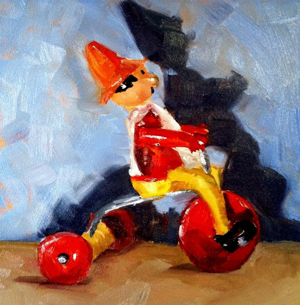"""Wheely Willy"" original fine art by Kristen Dukat"