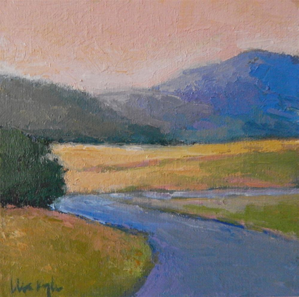 """""""A Bend in the Road"""" original fine art by Lisa Kyle"""