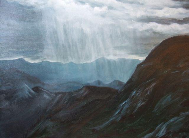 """Pelly Mountains, Yukon"" original fine art by Jackie Irvine"