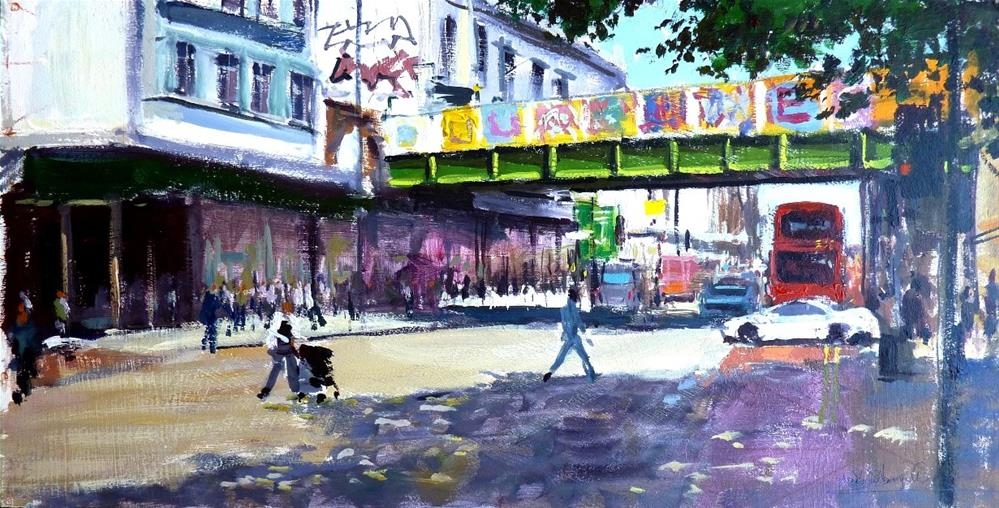 """Summer Shadows, Brixton"" original fine art by Adebanji Alade"