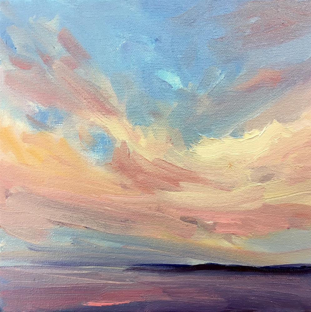 """Pink Sky at Night"" original fine art by Cathy Boyd"
