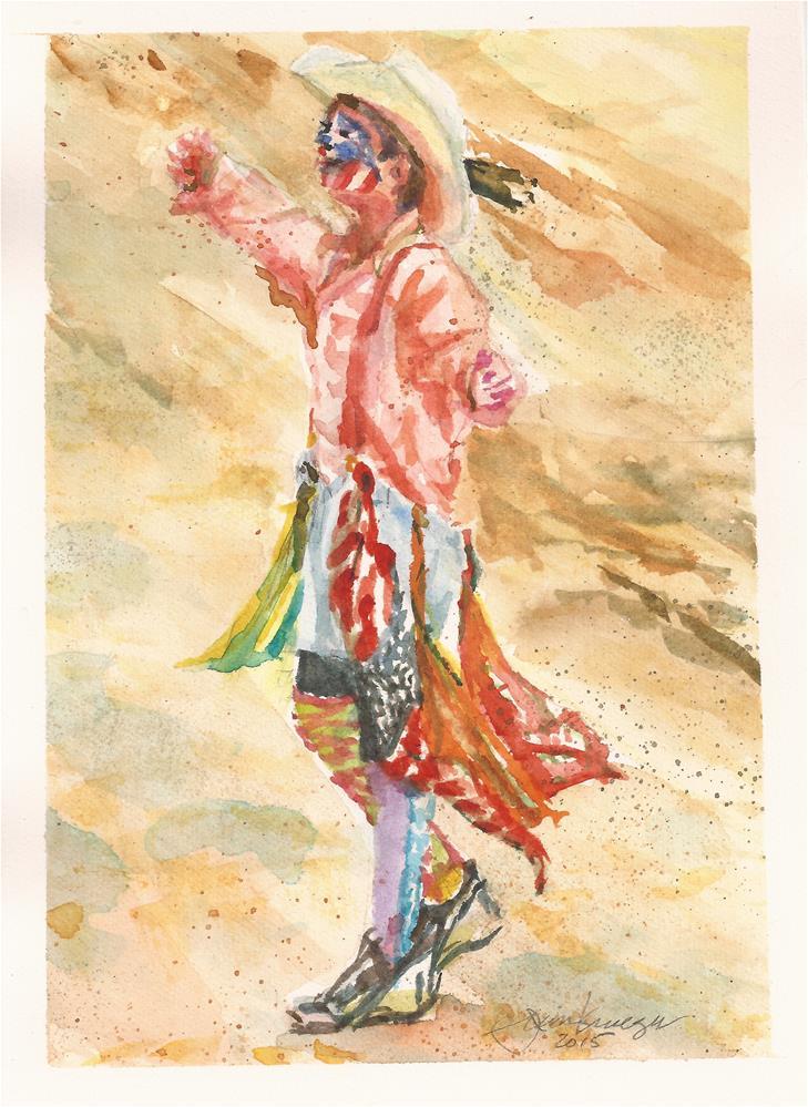 """""""Young Rodeo Clown"""" original fine art by Jean Krueger"""