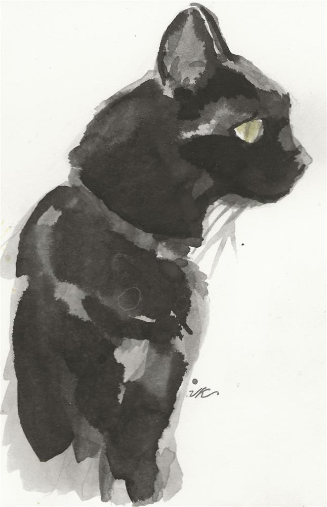 """Daily Cat 60"" original fine art by Jean Krueger"