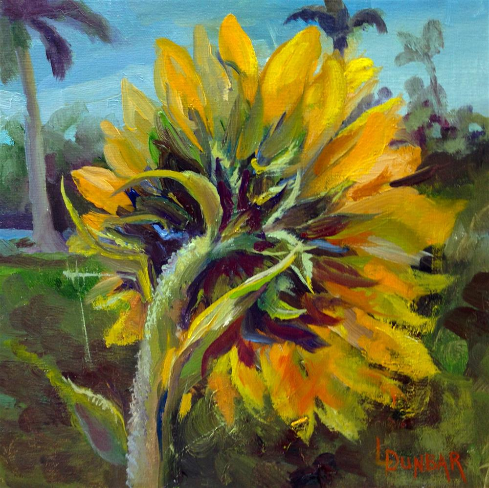 """Sunflowers in the Sunshine State"" original fine art by Linda Dunbar"