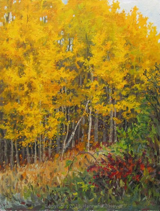 """Golden Day"" original fine art by Hannah C. Heyer"