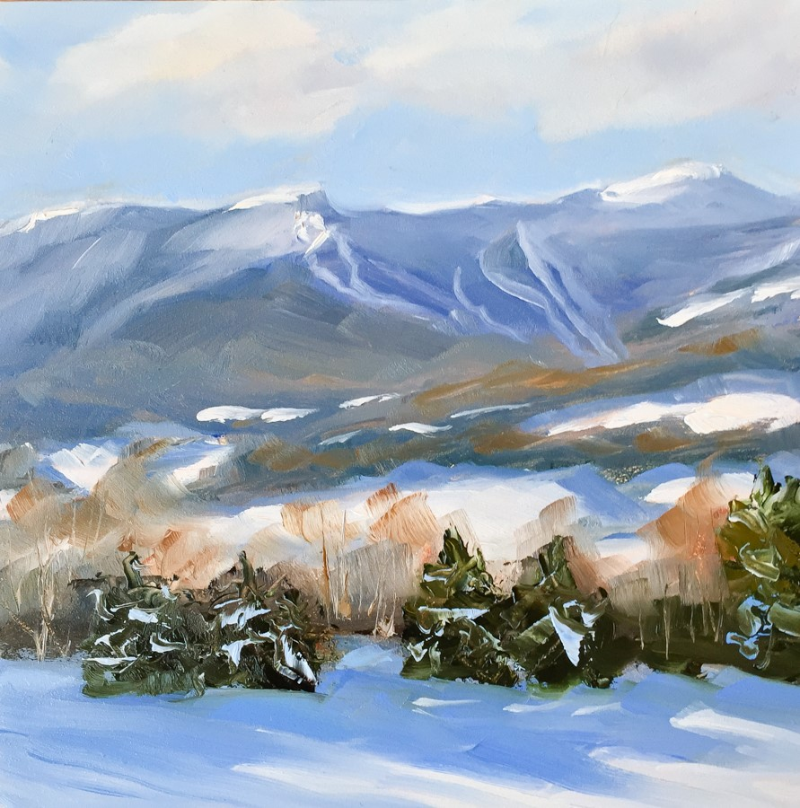 """#130 - Mt Mansfield - Stowe, VT"" original fine art by Sara Gray"