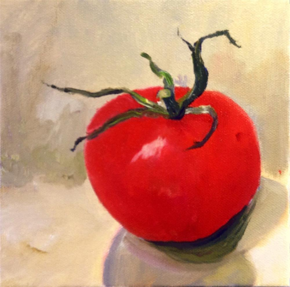 """""""The Red Tomato"""" original fine art by Cathy Boyd"""