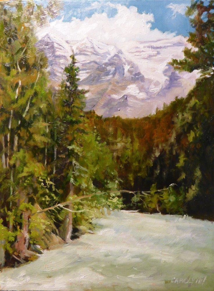 """""""Birth Place of the Mighty Fraser"""" original fine art by Carolynn Doan"""