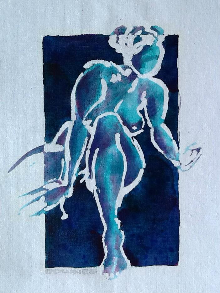 """016 NUDE 2"" original fine art by Trevor Downes"