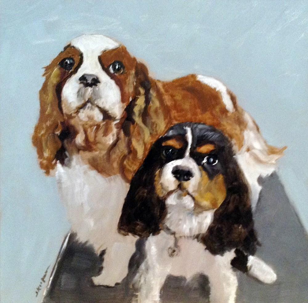 """Maycie and Parker"" original fine art by Shelley Koopmann"