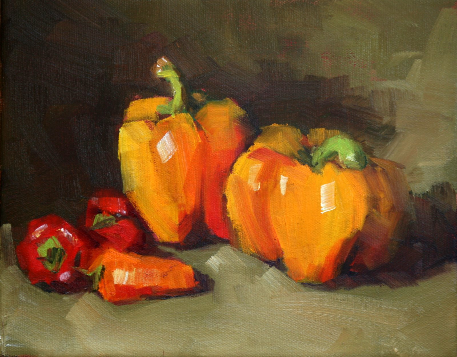 """""""Ma and Pa Pepper and the young uns"""" original fine art by Carol Carmichael"""