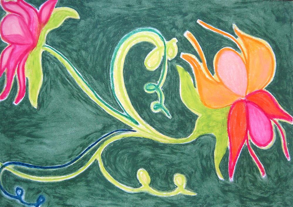 """Red Flower"" original fine art by Adéla Svobodová"