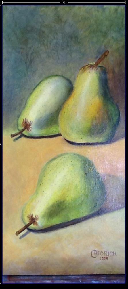 """3 PEARS"" original fine art by Charlotte Bankhead Hedrick"