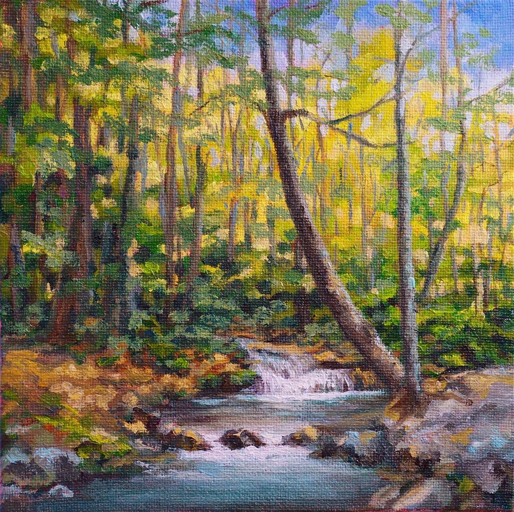 """""""Along the River"""" original fine art by Maria Levandowski"""