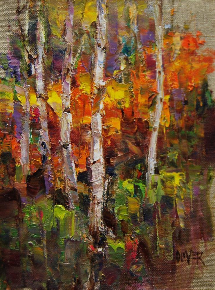 """The Problem Birch Trees"" original fine art by Julie Ford Oliver"