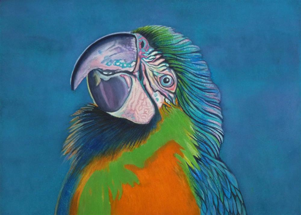 """""""Casey Happy to See Me"""" original fine art by Christine Anagnostis"""