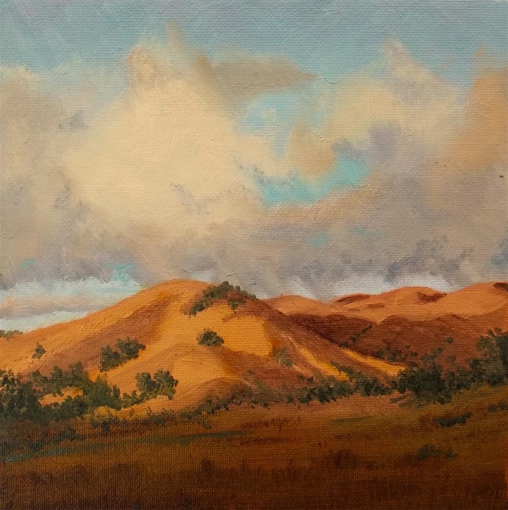 """""""Foot Hills"""" original fine art by William W. Hoyt"""