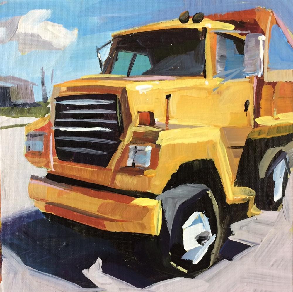 """Dump Truck Study"" original fine art by Teddi Parker"