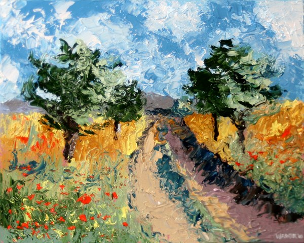 """""""Mark Adam Webster - Foothill Road Palette Knife Oil Painting"""" original fine art by Mark Webster"""