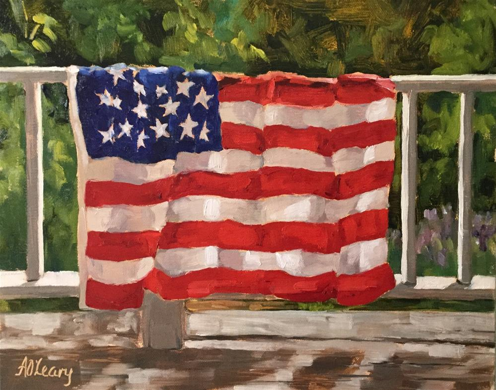 """""""Country Drive Banner"""" original fine art by Alice O'Leary"""