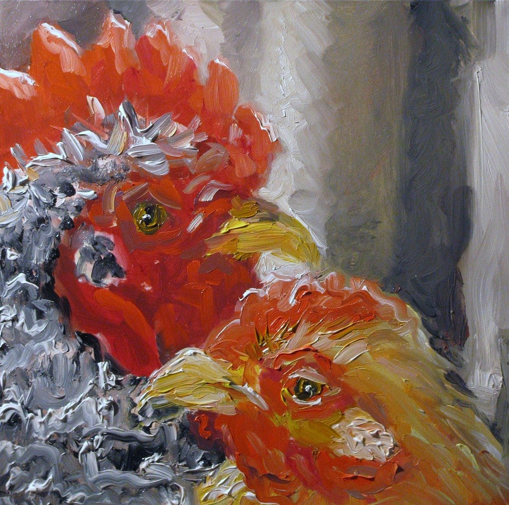 """He said She said"" original fine art by Susan Elizabeth Jones"