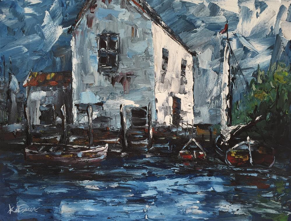 """""""Boat House"""" original fine art by Ken Fraser"""