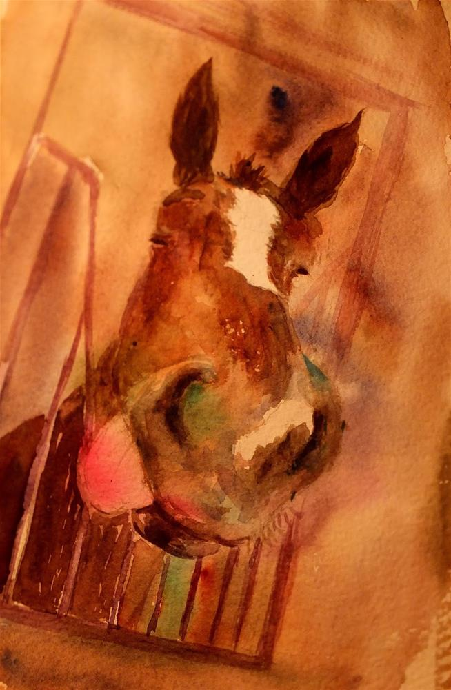"""From Equestrian club"" original fine art by Midori Yoshino"