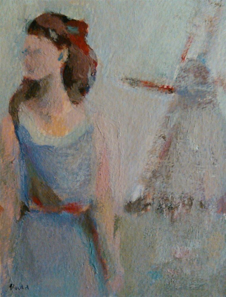 """""""Listen"""" original fine art by Ann Rudd"""