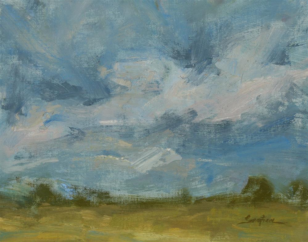 """""""Clouds over South Texas"""" original fine art by Scott Serafica"""
