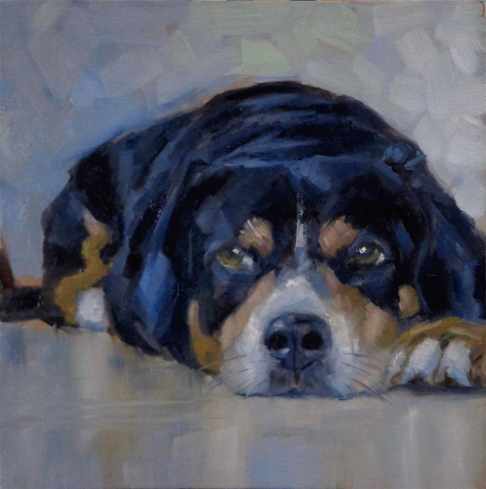 """Dog"" original fine art by Maria Z."