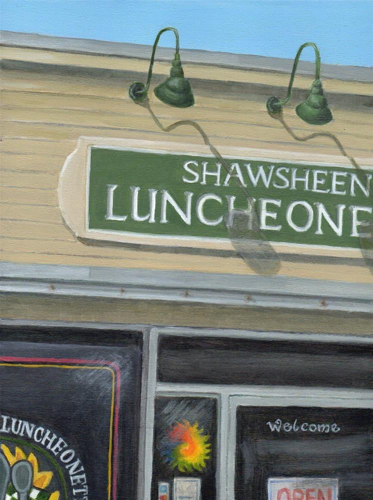 """Shawsheen Luncheonette"" original fine art by Debbie Shirley"